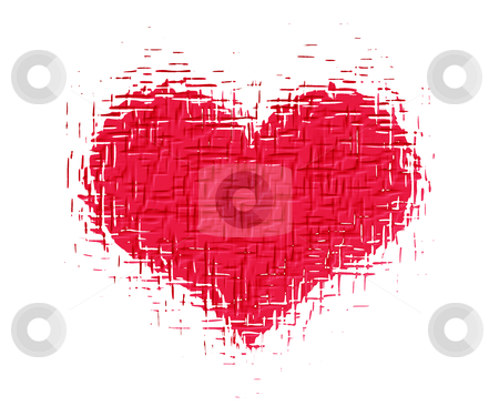Grunge heart stock photo, Grunge heart background by Kirsty Pargeter