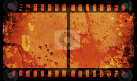 Grunge film strip stock photo, Grunge style film strip background by Kirsty Pargeter