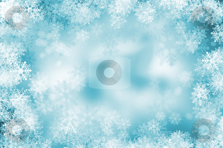 Snowflake background stock photo, Background of lots of snowflakes by Kirsty Pargeter