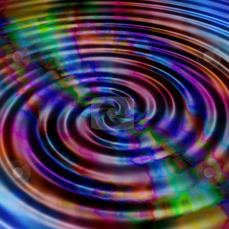 Rainbow ripples stock photo, Rainbow coloured water ripples by Kirsty Pargeter
