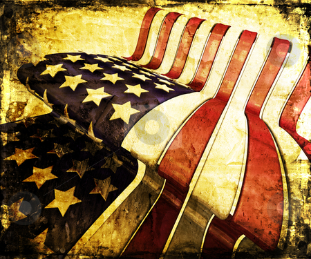 Grunge stars and stripes stock photo, Grunge style American flag by Kirsty Pargeter
