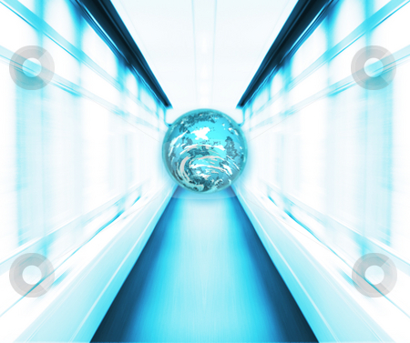 Speeding Earth stock photo, Conceptual image depicting a speeding Earth by Kirsty Pargeter