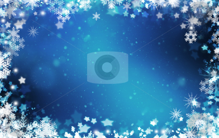 Snowflakes and stars background stock photo, Background of snowflakes and stars by Kirsty Pargeter
