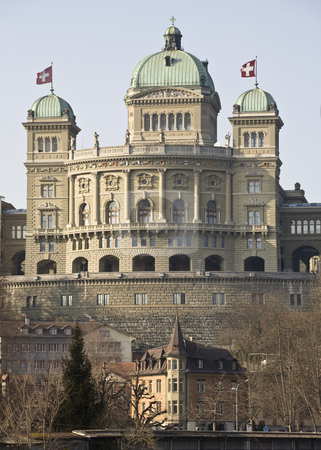 Bundeshaus stock photo, Bundeshaus, Federal Palace, Bern, Switzerland, Europe by mdphot