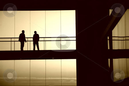 Sillouettes stock photo, People silhouettes by Rui Vale de Sousa