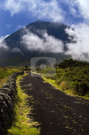 Mountain stock photo, Azores big pico mountain at pico island by Rui Vale de Sousa