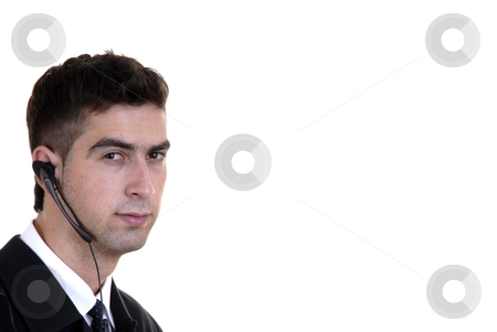 Communication stock photo, Young caucasian man chatting with cell phone by Rui Vale de Sousa