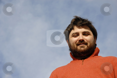 Casual stock photo, Young casual man with the sky as background by Rui Vale de Sousa