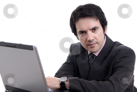 Worker stock photo, Young man working with his personal computer by Rui Vale de Sousa