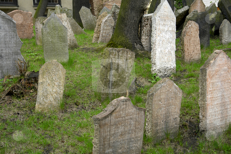 Cemetery stock photo, Old Jewish cemetery in prague old town by Rui Vale de Sousa