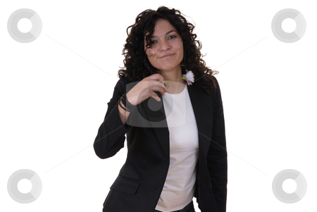 Woman stock photo, Young caucasian woman in a white background by Rui Vale de Sousa