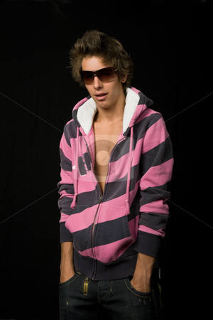 Fashion stock photo, Young casual man against a black background by Rui Vale de Sousa