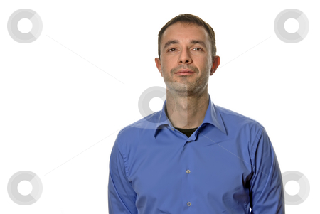Casual stock photo, Young casual man portrait in white background by Rui Vale de Sousa
