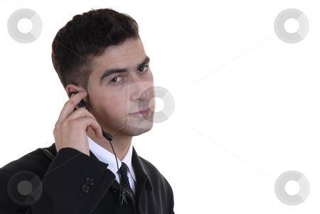 Chat stock photo, Young caucasian man chatting with a cell phone by Rui Vale de Sousa