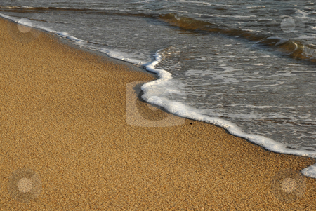 Beach stock photo, Wave in the sand at the beach by Rui Vale de Sousa