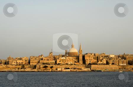 Malta stock photo, Ancient architecture of malta island at sunset by Rui Vale de Sousa