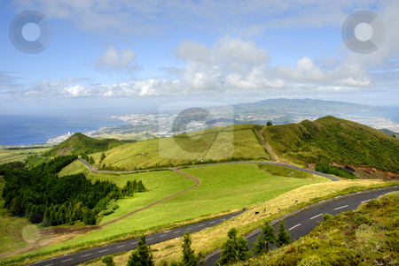 Azores stock photo, Landscape road in s Miguel island, azores by Rui Vale de Sousa