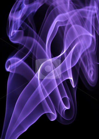 Smoke stock photo, Purple rays smoke abstract in black background by Rui Vale de Sousa