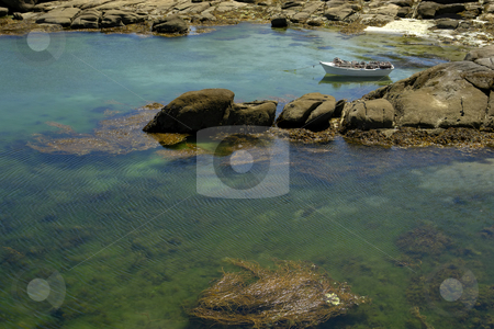 Boats stock photo, Boat at the coast in the north of spain by Rui Vale de Sousa