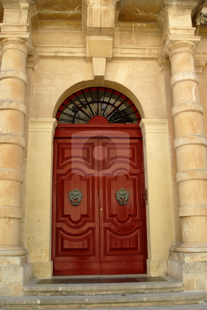 Old door stock photo, Ancient door in a church in malta island by Rui Vale de Sousa