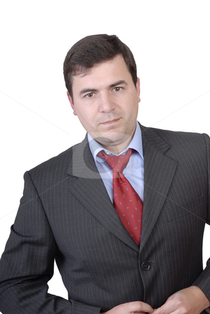 Stand stock photo, Young confident businessman portrait isolated on white by Rui Vale de Sousa