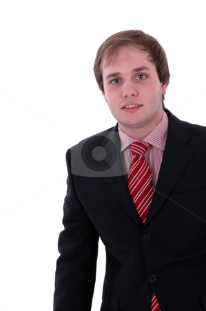 Man stock photo, Young business man portrait isolated in white background by Rui Vale de Sousa