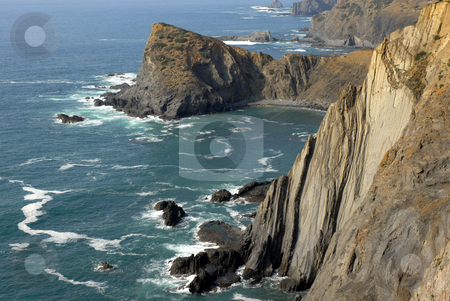 Cliff stock photo, Portuguese Algarve beach, the south of the country by Rui Vale de Sousa