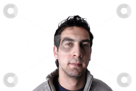 Youth stock photo, Young casual man portrait in a white background by Rui Vale de Sousa