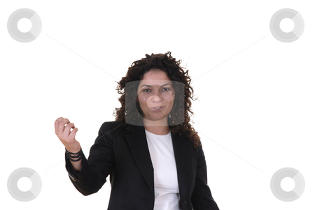 Happy stock photo, Happy young caucasian woman in white background by Rui Vale de Sousa