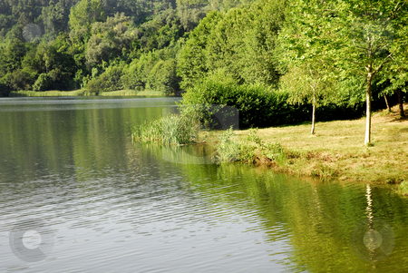 Lake stock photo, Lake scenic in the portuguese national park by Rui Vale de Sousa