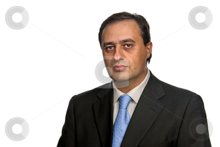 Male stock photo, Business man isolated over a white background by Rui Vale de Sousa