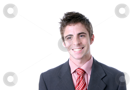 Laugh stock photo, Portrait of young men isolated on white by Rui Vale de Sousa