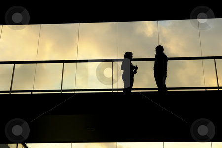 Meeting stock photo, A couple meetting in the modern building by Rui Vale de Sousa