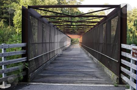 Trail Bridge stock photo, A covered bridge on the silver comet trail by Matt Baker