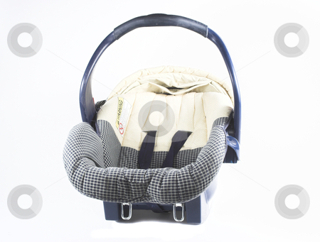 Empty Car seat stock photo, An isolated infant carrier and car seat by Matt Baker