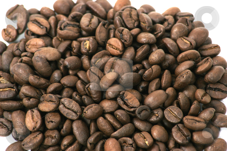 Coffee beans stock photo, A pile of coffee beans by Matt Baker