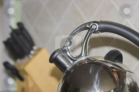 Coffee Kettle stock photo, A chrome cofee kettle by Matt Baker