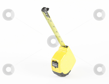 Tape Measure stock photo, A yellow tape measure ready for use by Matt Baker