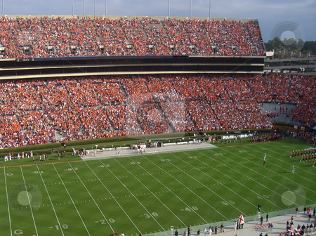 College football game stock photo, A packed stadium for a college football game by Matt Baker