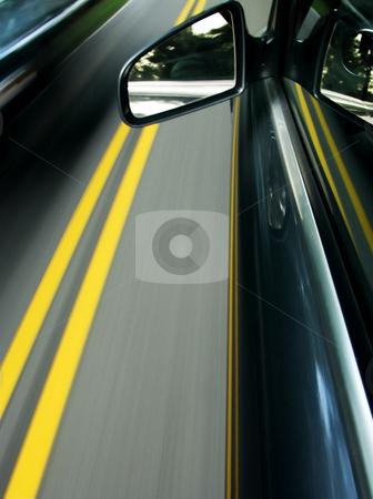 Speeding Car stock photo, The view from a speeding car by Matt Baker