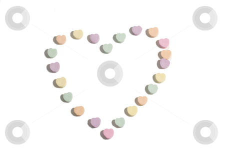 Candy heart stock photo, A heart made from candy by Matt Baker