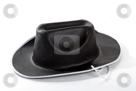 Cowboy Hat stock photo, A closeup of an isolated black cowboy hat by Matt Baker