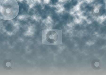 Night Scape stock photo, The moon shines through an overcasts sky by Matt Baker
