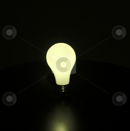 Light Bulb stock photo, A glowing yellow light bulb by Matt Baker