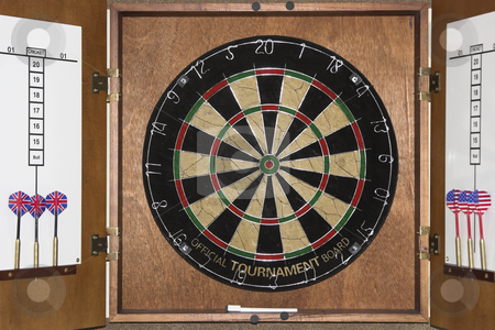 Dart Board stock photo, A dart board game by Matt Baker