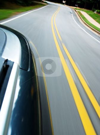 Moving Car stock photo, Looking back from a moving car by Matt Baker