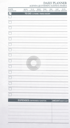 To Do List stock photo, A daily planner to do list by Matt Baker