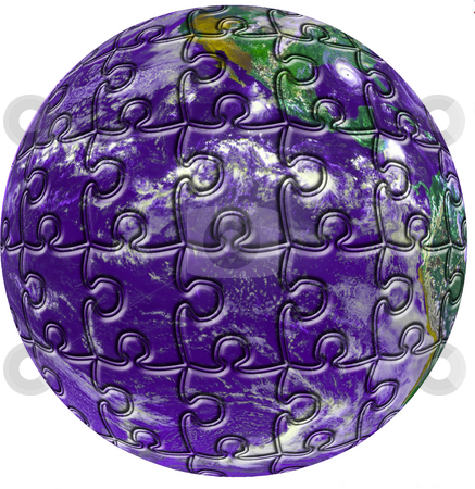 Puzzle Earth stock photo, The earth as a puzzle by Matt Baker
