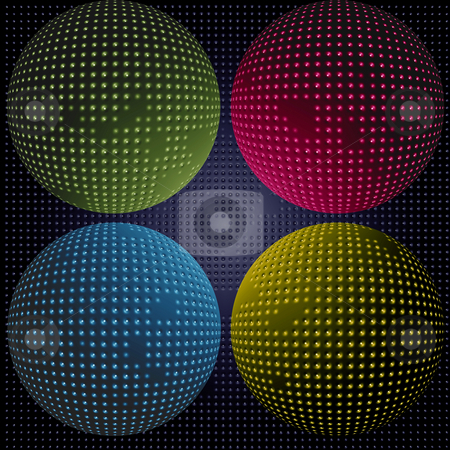 Sci-fi spheres stock photo, Multi colored spheres by Matt Baker