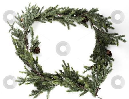 Garland Frame stock photo, A christmas border made from garland by Matt Baker